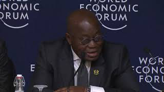 Press Conference with Nana Akufo Addo, President of Ghana at the World Economic Forum, Davos, Switze