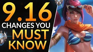 What YOU MUST KNOW in Patch 9.16 - HUGE Changes: Reworks and Meta Tips | League of Legends Pro Guide