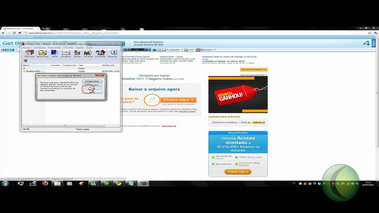 GRÁTIS PARA GRATIS DOWNLOAD REGISTRADO BRASFOOT PC 2011
