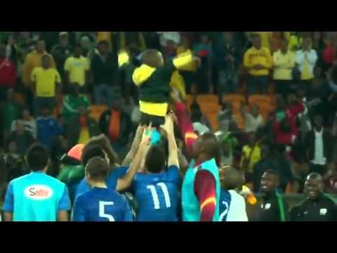 Boy invades Field And he hugs Neymar   South Africa Brazil 0 - 5