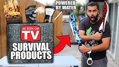 "These ""AS SEEN ON TV* SURVIVAL PRODUCTS Claim They Will SAVE YOUR LIFE!! *DOOMSDAY PREPPERS*"