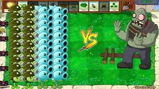 Plants vs Zombies Hack - Gatling Pea vs Snow Pea vs All Gargantuar