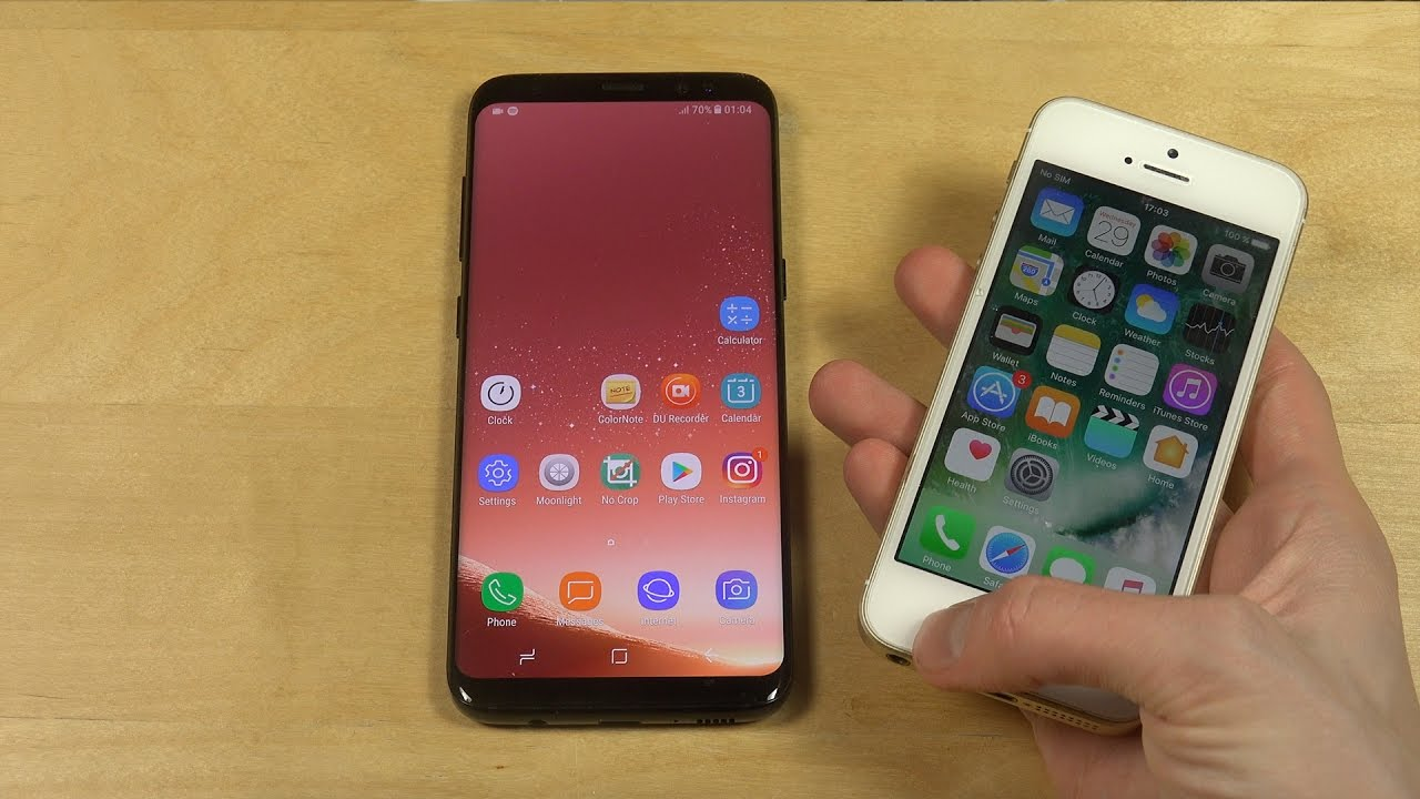 Samsung Galaxy S8 Vs  Iphone Se - Which Is Faster
