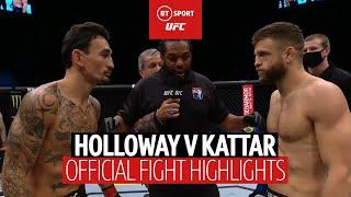 Max Holloway v Calvin Kattar | UFC Fight Highlights