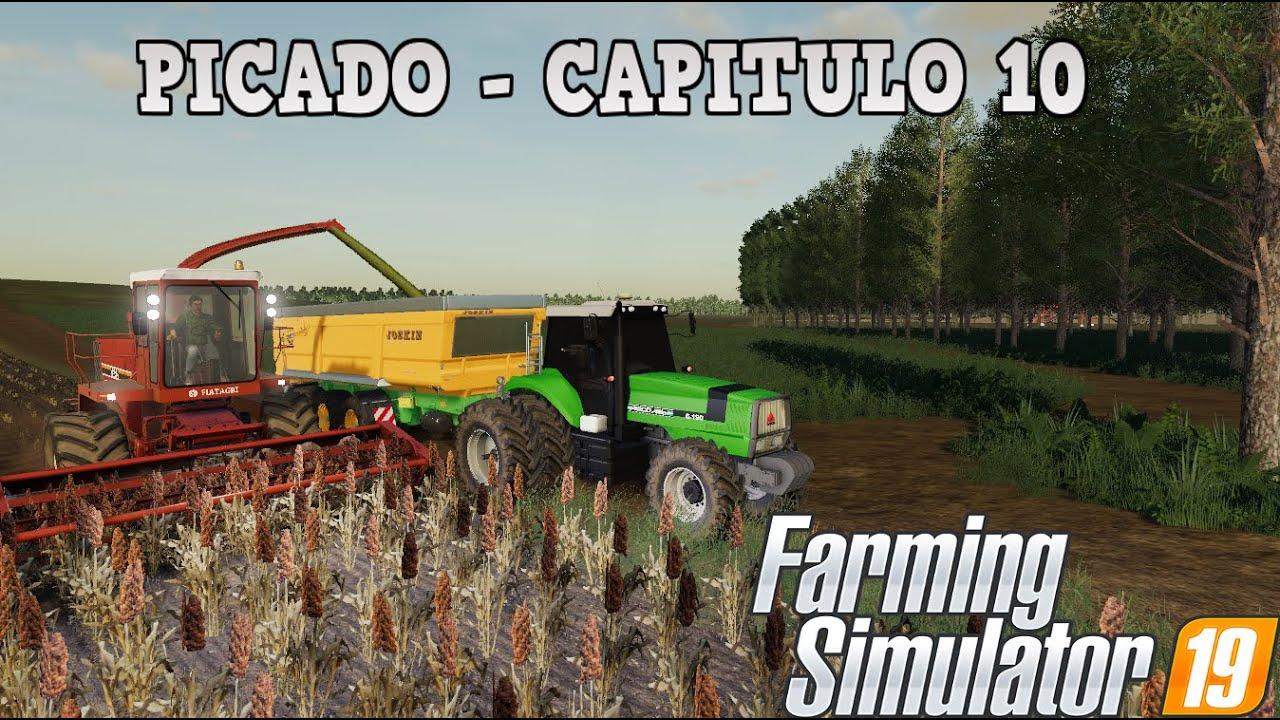"PICADO DE SORGO PARA SILO   SERIE ESTILO ""VIDA REAL"" #10   FARMING SIMULATOR 19"