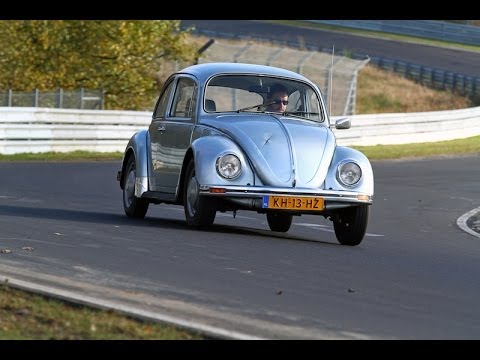 Madman takes classic VW Beetle to the Nurburgring!