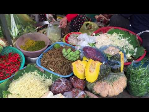 Cambodian market, market foods in city