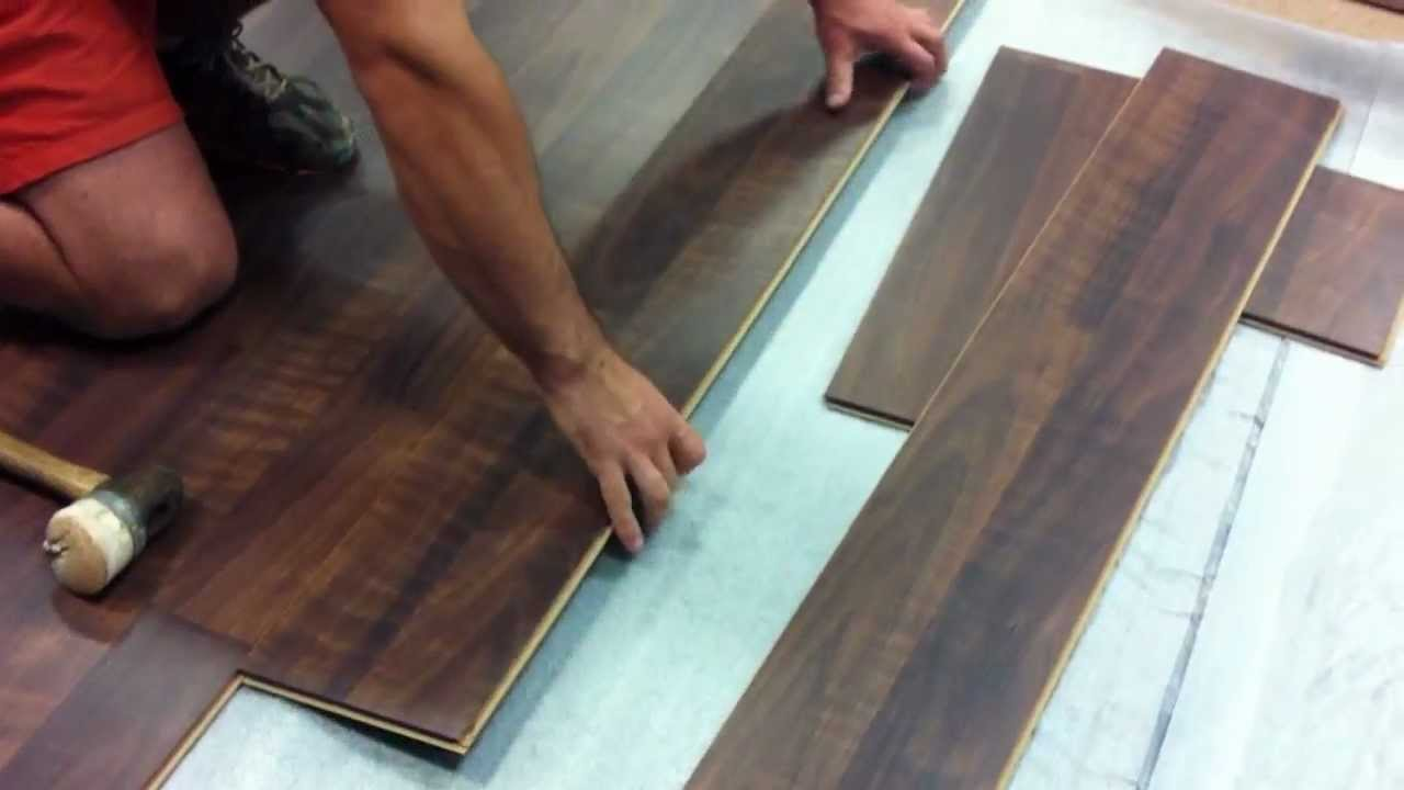 Lovely How To Install A SwiftLock Laminate Flooring In A Commercial Area   YouTube