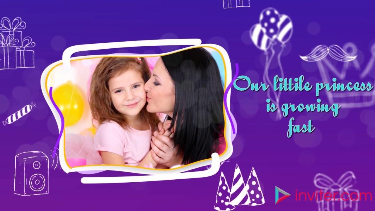 Birthday Video Invitation Kids Youtube Jpg 1280x720 3rd Rhymes For Invitations