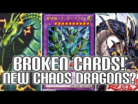 BROKEN NEW Yu-Gi-Oh! Thunder Dragon Cards | Chaos Dragons Are Back!!