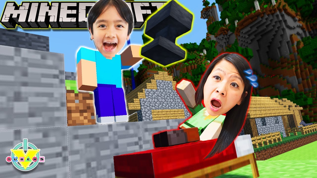 Ryan Teaches Mommy how to play MINECRAFT!
