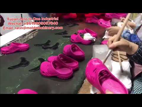 EVA Injection CROCS SHOES Chemical Gluing Welt Attaching Process