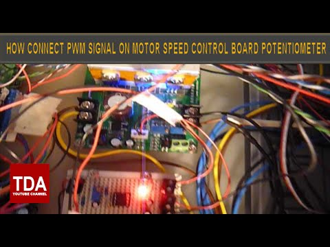 Connect PWM Signal CNC Board to a Motor Speed Controller potentiometer (PWM)