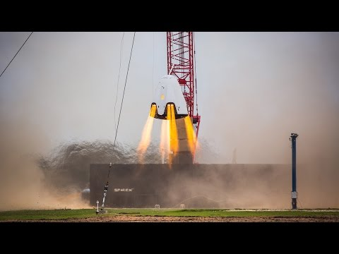 Space X Dragon 2 Propulsive Hover Test