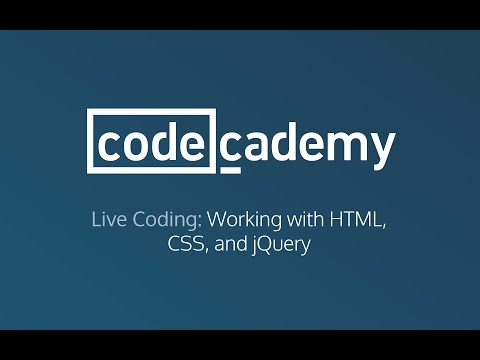 Live Coding: Working with HTML, CSS and jQuery