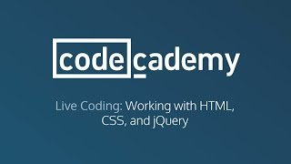 live coding working with html css and jquery