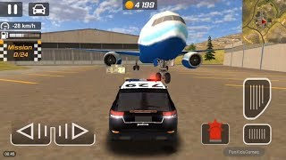 Police Car Chase on the Airport - Car Racing Games for Kids