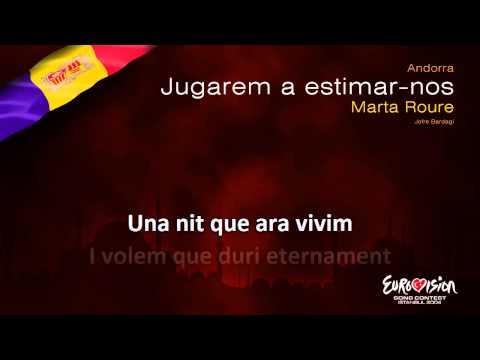 """Marta Roure - """"Jugarem a estimar-nos"""" (Andorra) - [Karaoke version]"""