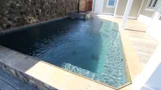 Polished Marble Pool Finish Hydrazzo | French Gray & Mediterranean Blue