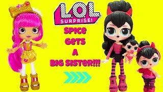 LOL SURPRISE Spice Gets A Big Sister DIY Shopkins Shoppie Doll Lippy Lulu Custom Makeover