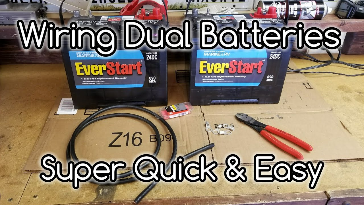 how to wire dual camper batteries in parallel youtube. Black Bedroom Furniture Sets. Home Design Ideas