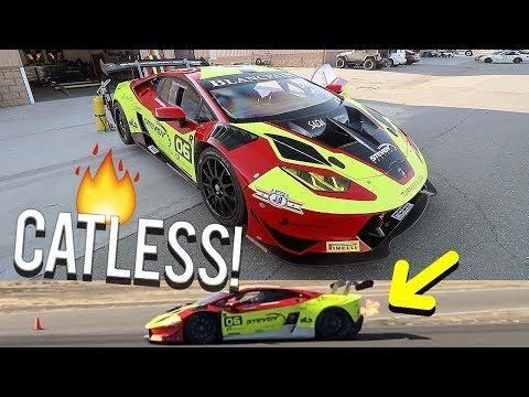 First time hearing his Lamborghini! (Shooting FLAMES)