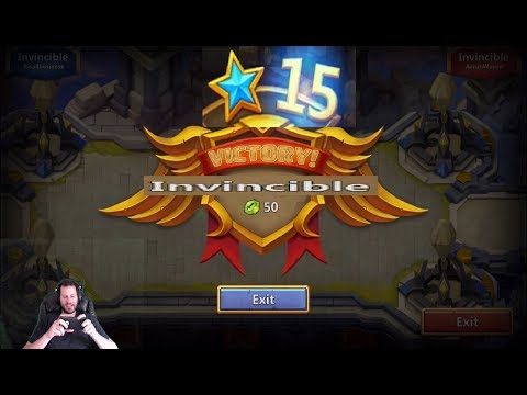 Invincible 14 Star Squad Showdown Solid Set Up Castle Clash