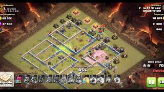 Clash Of Clans - CV12 vs CV12 (ATAQUE DE CORREDORES)