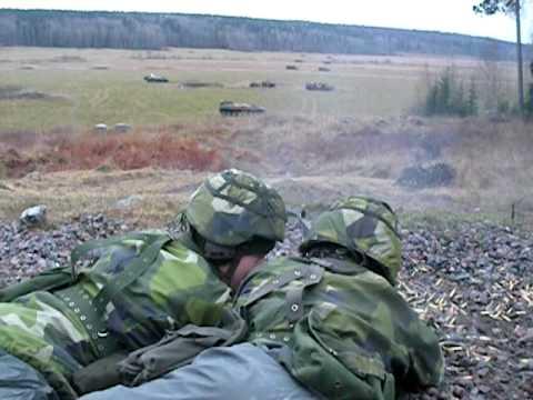 KSP58b / FN MAG / M240 Machinegun practice - Sweden