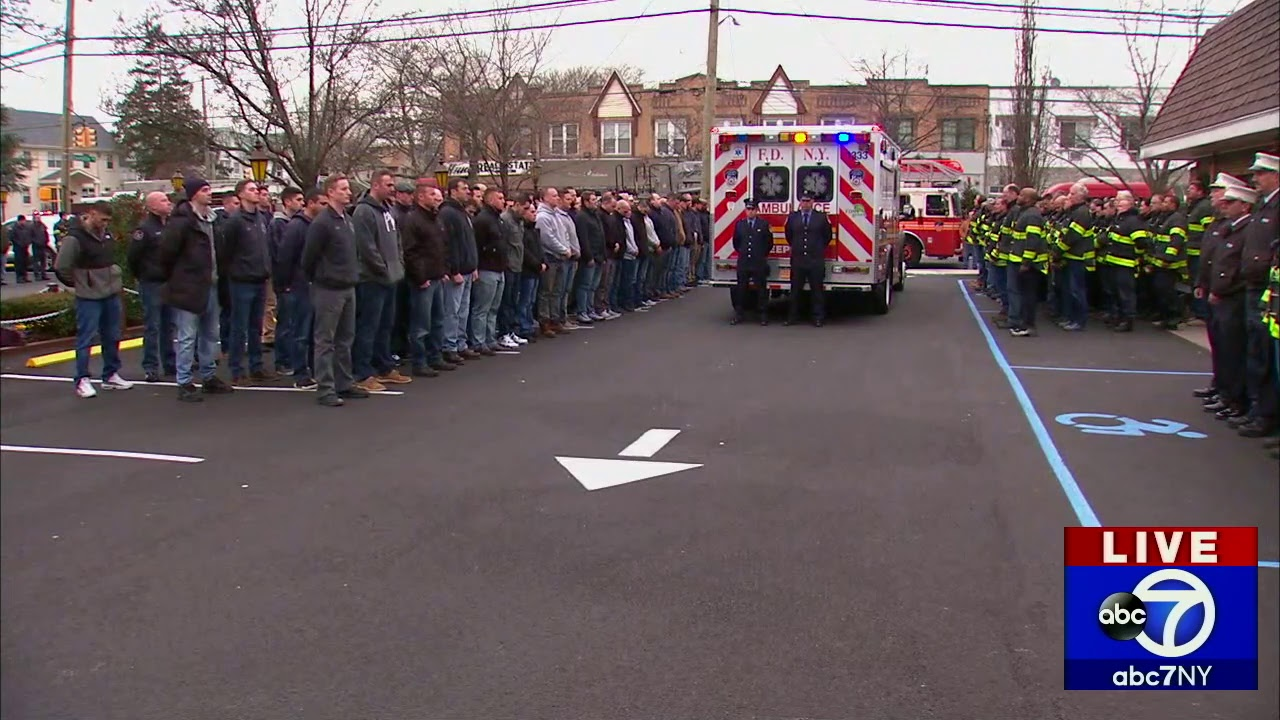Firefighter falls to his death responding to car crash in