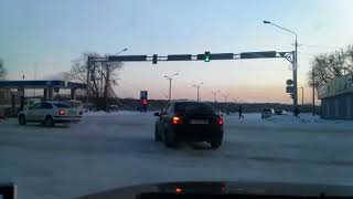 В Усть-Каменогорске столкнулись автобус и легковушка