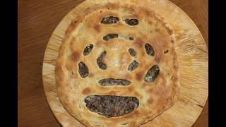 Осетинский пирог с мясом - Фыдджын (Ossetian meat pie). Готовим в Лондоне.