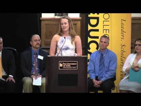 University of Iowa Teacher Education Convocation - May 15, 2015