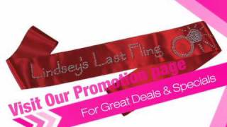 Personalized Bride's Last Fling Sash - AdvantageBridal.com