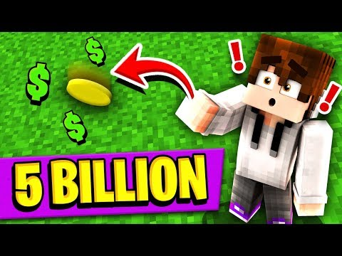 BETTING 5 BILLION DOLLARS ON A COIN FLIP! (Minecraft Skyblock)