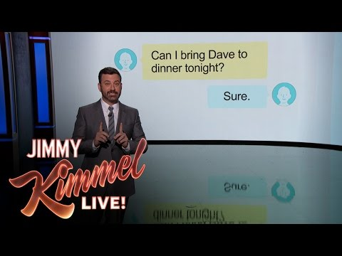 Jimmy Kimmel Explains Passive Aggressive Texts