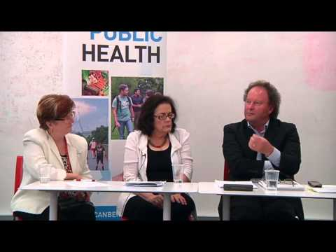 Michelle Grattan and John Flannery speak to UC Public Health students