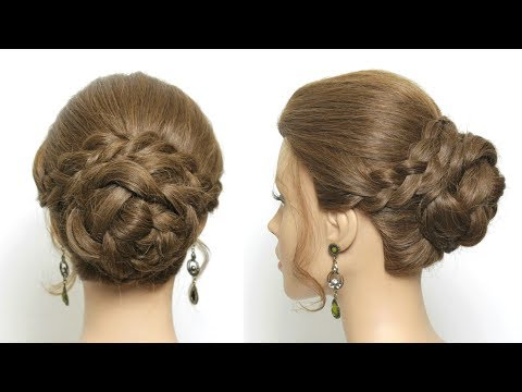 Everyday Braided Bun Hairstyle For Long Hair