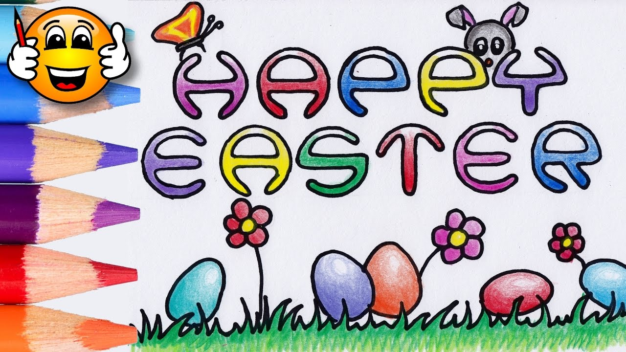 coloring pages for kids happy easter coloring book videos