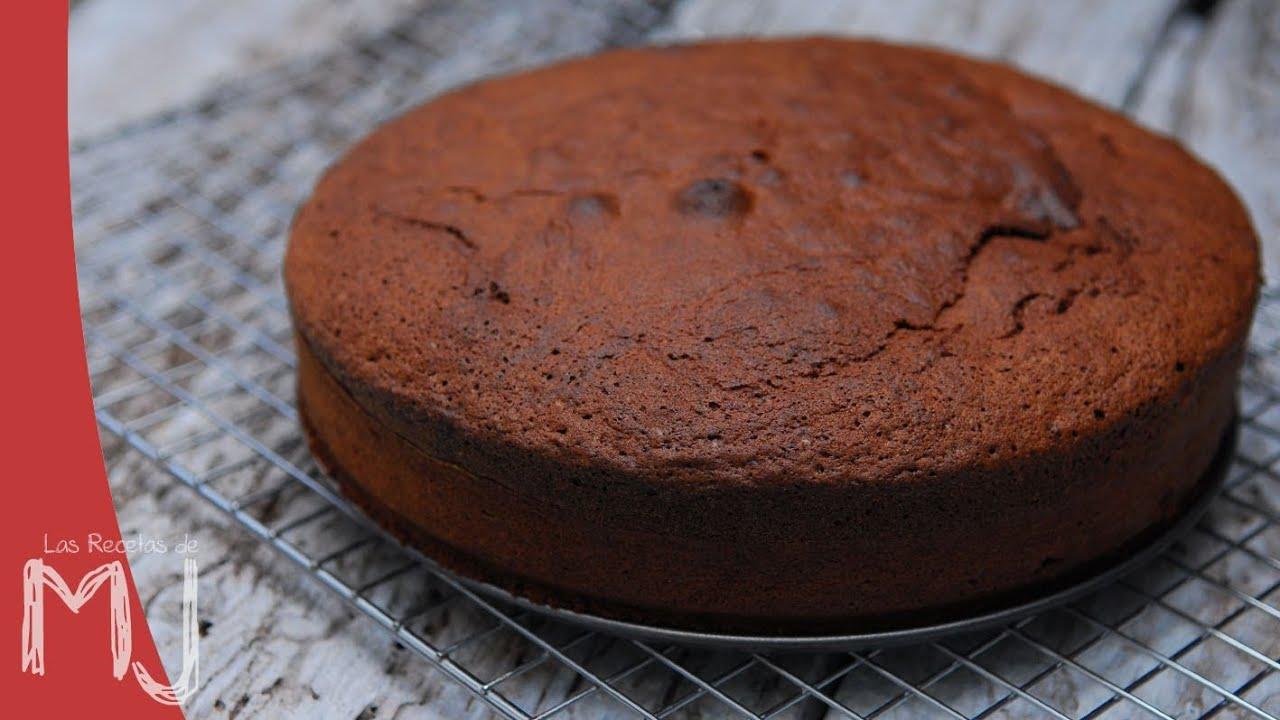 BIZCOCHO DE CHOCOLATE | Base para tartas - YouTube