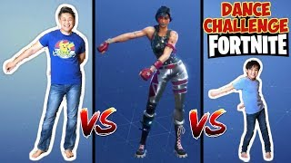 Fortnite Dance Challenge for kids in Real Life VS Fortnite Dance Off