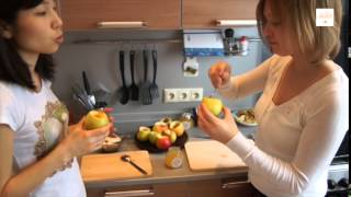 Honey for you kitchen: медовые рецепты. Выпуск 1. Яблоки, запеченные с медом и творогом.
