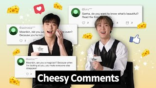 Say Cheese! | ASTRO's Moonbin & Sanha Read Cheesy Fan Comments In English