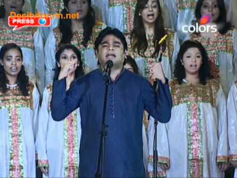Vande mataram - A.R with live chorus at IPL Awards[HQ]