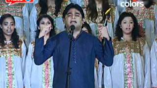 Vande Mataram A.R.Rahman With Live Chorus At IPL Awards[HQ]