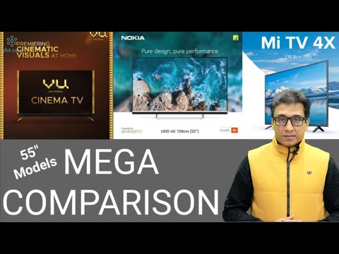 VU CINEMA TV vs NOKIA TV vs MI TV 4X ⚡⚡ MEGA COMPARISON 🔥🔥 TechTalk 43