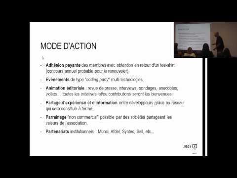 Présentation de l'association Fier d'être développeur par Eric Vernié