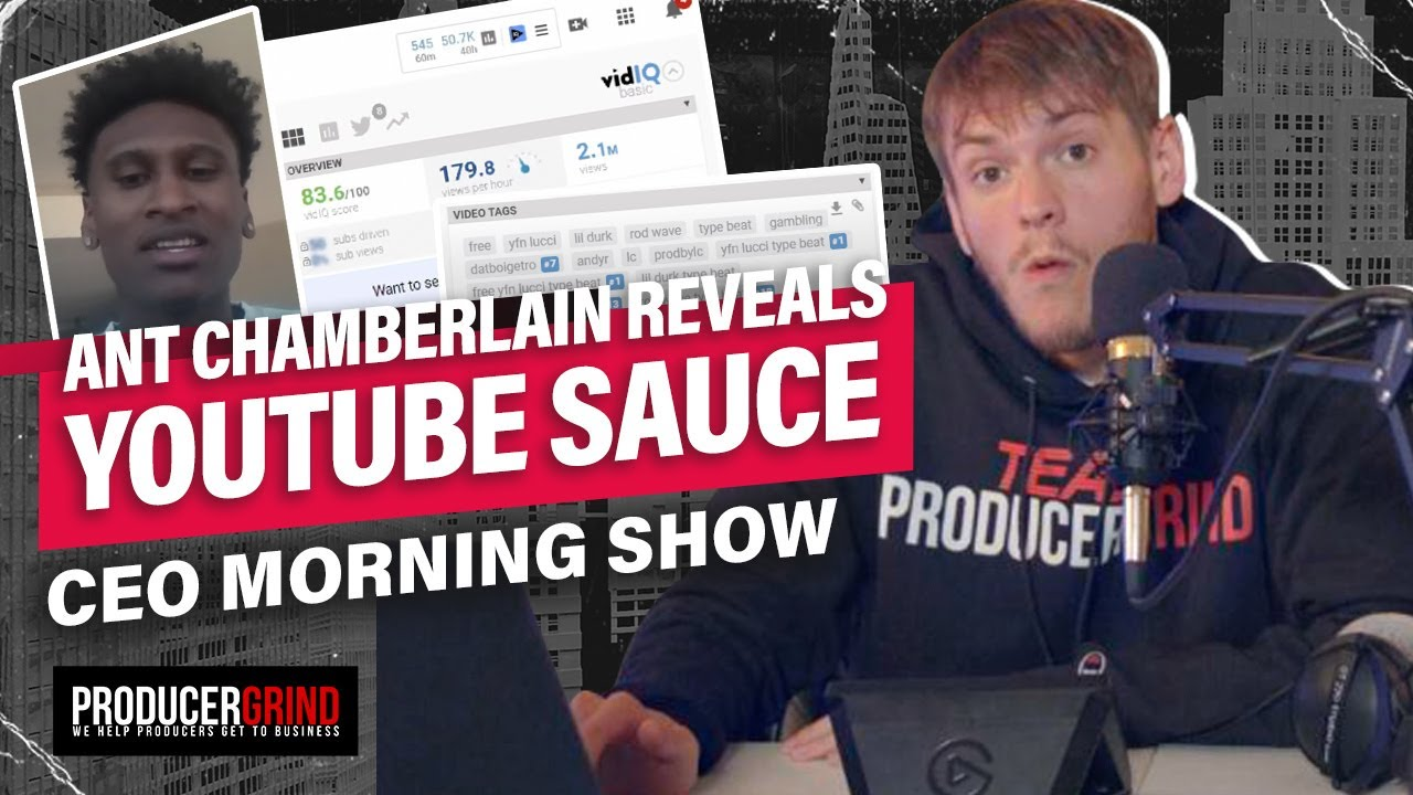 This Is How To Sell A LOT of Beats Online w/ YouTube & VidIQ | CEO Morning Show #5