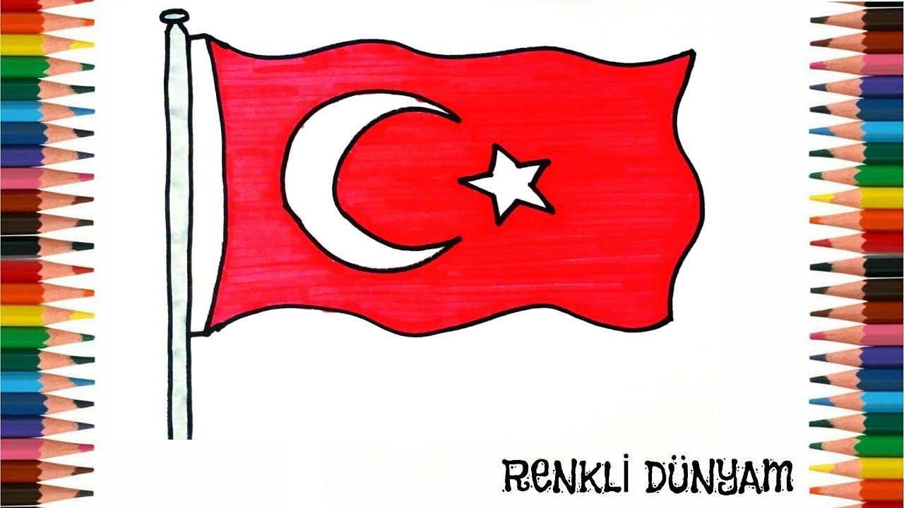 Turk Bayragi Nasil Cizilir Bayrak Cizimi How To Draw Turkish
