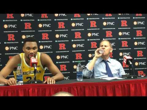 John Beilein and Michigan players discuss win vs. Rutgers